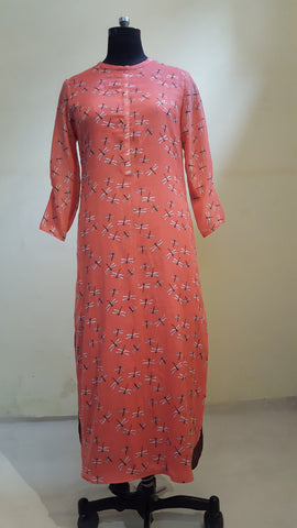 Dragonfly Print Malmal dress: OSdr0513C (SOLD OUT)