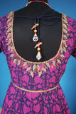 Purple and Blue dress with antique gold embroidery:OSldr9