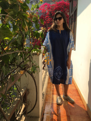 Cotton Kaftan shibori dress :0Sdr1712