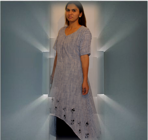 khaadi full length dress :OSDR17144