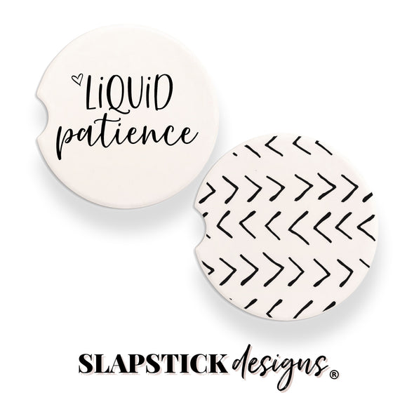 Liquid Patience Car Coasters