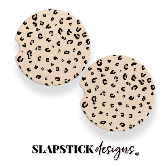 Leopard Print Car Coaster