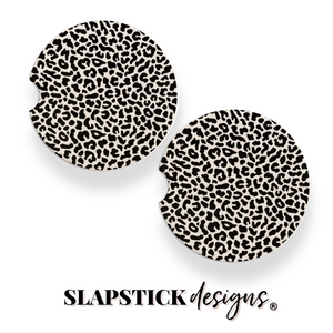Busy Leopard Car Coasters