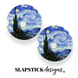 Starry Night Car Coasters