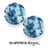 Teal Tie-Dye Car Coasters