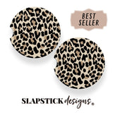 Nude Leopard Car Coaster slapstick designs