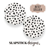 Spotty Cheetah Car Coaster slapstick designs