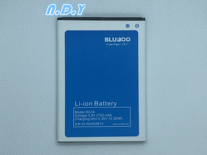 BLUBOO BG14 Battery 2700mAh 100% Original New Replacement accessory accumulators For Bluboo BG12 Cell Phone