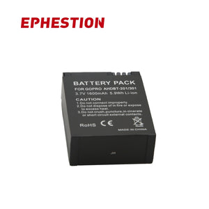 EPHESTION for GoPro AHDBT 201 AHDBT 301 Camera Battery for Gopro Hero 3 3+ AHDBT-301 AHDBT-201 battery for go pro Accessories