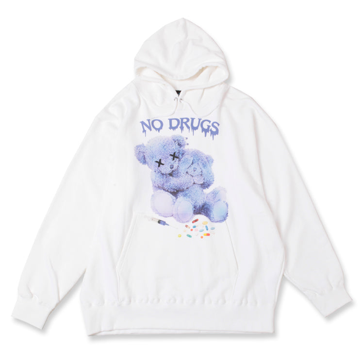 WRouge(ルージュ) NO! DRUG! Message Bear BIG パーカー