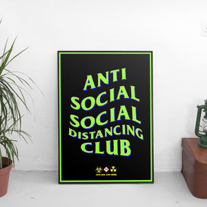 Anti Social Social Distancing Club #3 Poster - The Fresh Stuff US