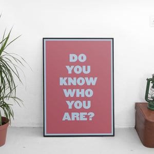 Harry Styles - Do You Know Who You Are? Poster - The Fresh Stuff US