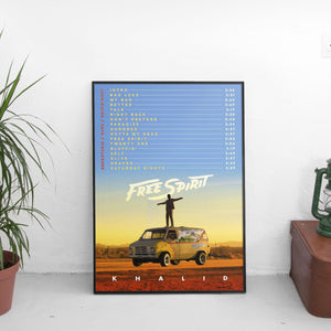 Khalid - Free Spirit Tracklist Poster - The Fresh Stuff US