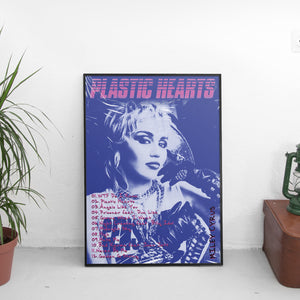 Miley Cyrus - Plastic Hearts Tracklist Poster - The Fresh Stuff US