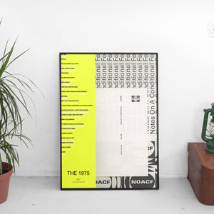 The 1975 - Notes on a Conditional Form Tracklist Poster - The Fresh Stuff US