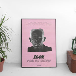 Tyler The Creator - Igor Tracklist Poster - The Fresh Stuff US
