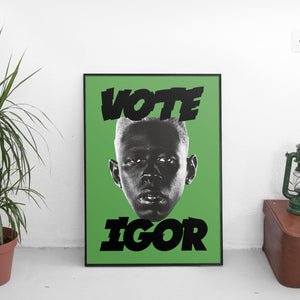 Tyler The Creator - Vote Igor Poster Green - The Fresh Stuff US