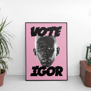 Tyler The Creator - Vote Igor Poster Pink - The Fresh Stuff US