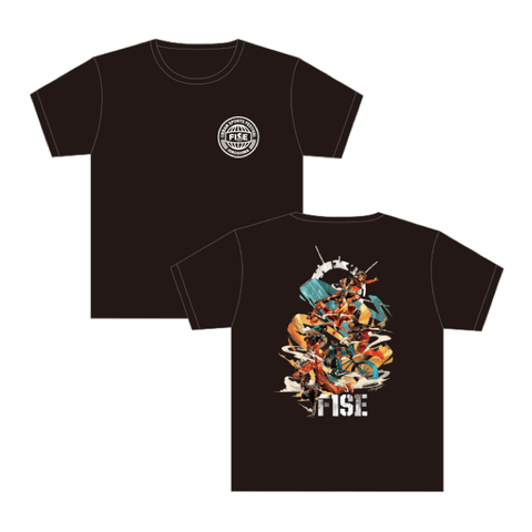DRAGON76 COLLABORATION SHORT SLEEVE TEE (BACK) BLACK - OFFICIAL SHOP