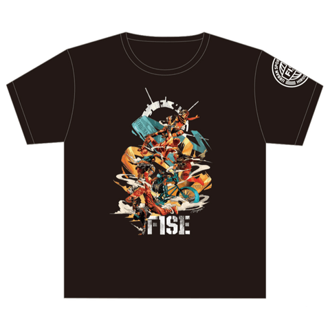 DRAGON76 COLLABORATION SHORT SLEEVE TEE (FRONT) BLACK - OFFICIAL SHOP
