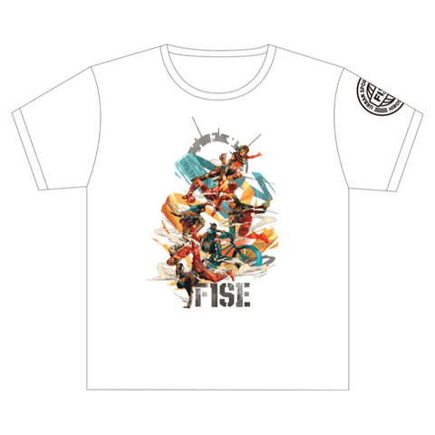 DRAGON76 COLLABORATION SHORT SLEEVE TEE (FRONT) WHITE - OFFICIAL SHOP
