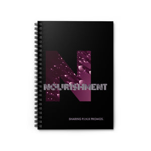 PINK Collection/Nourishment Journal-Spiral Notebook - Ruled Line