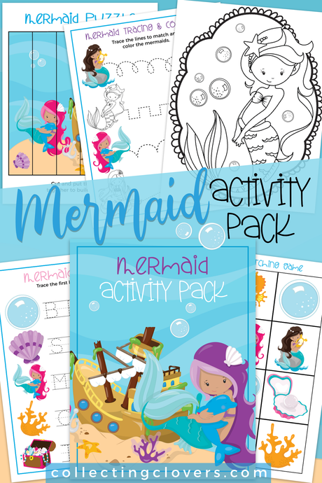 Mermaid activity pack for kids