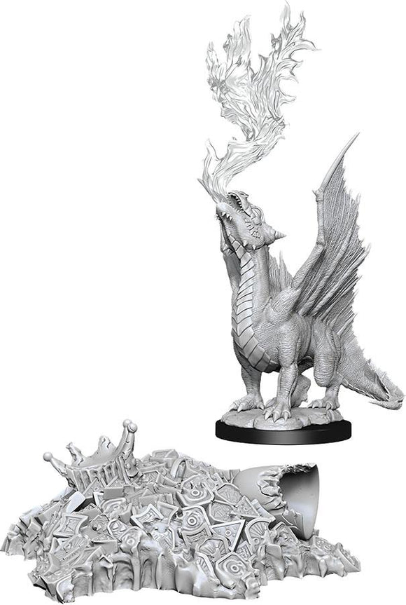 D&D Nolzur's Marvelous Unpainted Miniatures: Gold Dragon Wyrmling & Small Treasure Pile