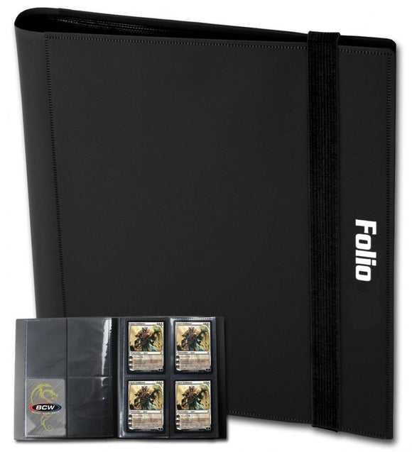 BCW Binder 4pkt Folio Black