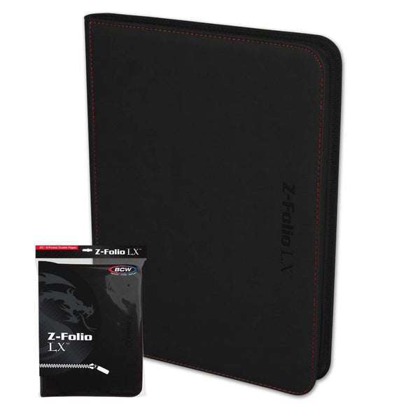 BCW Binder 9pkt Z-Folio LX Black
