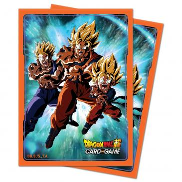 Ultra Pro Standard Card Game Sleeves 65ct Dragon Ball Super Family Kamehameha (15194)