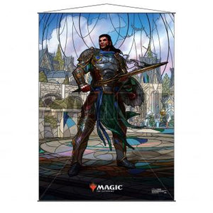 Magic the Gathering Wall Scroll Stained Glass Gideon