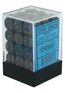 Chessex 12mm Opaque Dusty Blue/Copper 36ct D6 Set (25826)