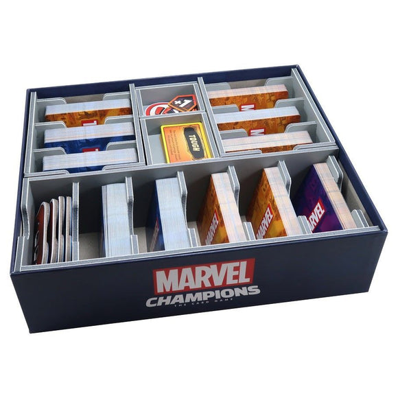 Folded Space Box Insert for Marvel Champions Card Game
