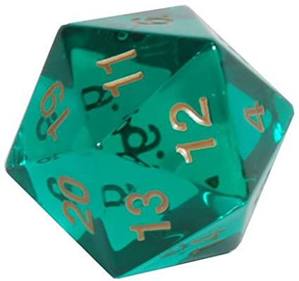 Koplow D20 55mm Spindown Emerald with Gold
