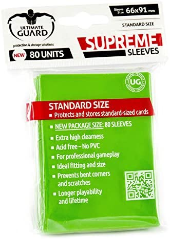 Ultimate Guard Supreme Card Sleeves 80ct Light Green (10133)