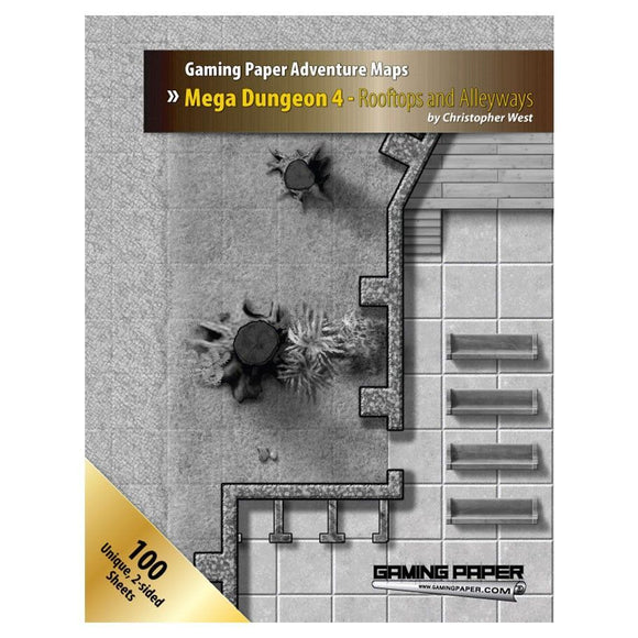 Gaming Paper Advanced Mega Dungeon 4 - Rooftops and Alleyways set