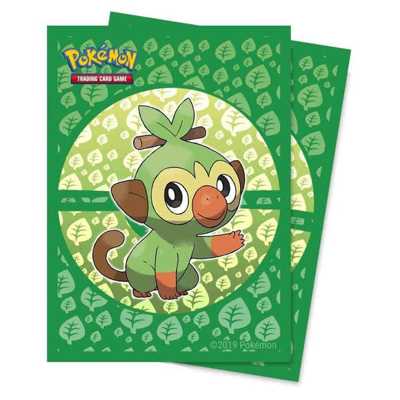 Ultra Pro Standard Card Game Sleeves 65ct Pokemon Galar Starters Grookey (15360)