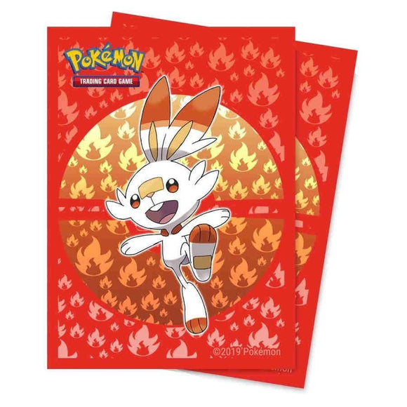 Ultra Pro Standard Card Game Sleeves 65ct Pokemon Galar Starters Scorbunny (15362)