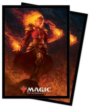 Ultra Pro Standard Card Game Sleeves 100ct Magic the Gathering Core Set 2021 Chandra (18363)