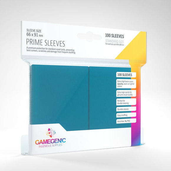 Gamegenic 100ct Standard Size Card Sleeves Prime Blue