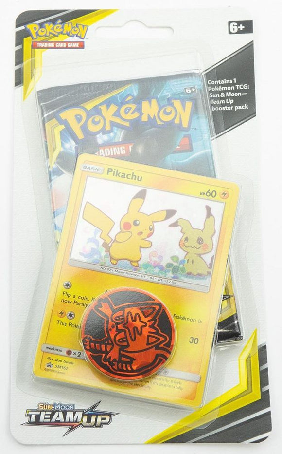 PKMN: SM Team Up Checklane Booster w/Pikachu Promo