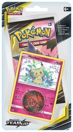 PKMN: SM Team Up Checklane Booster w/Mimikyu promo