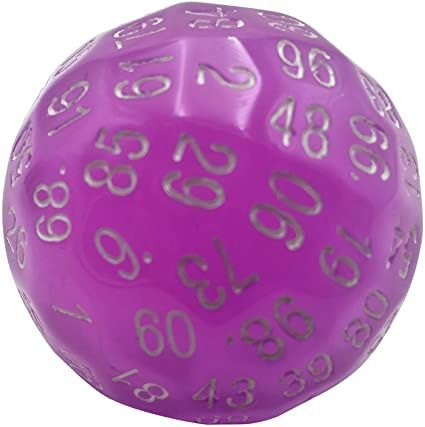 Single D100 Translucent Purple