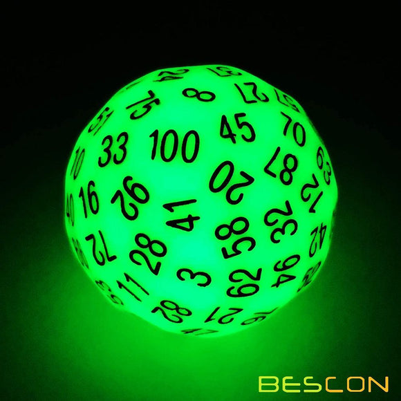 Single D100 Glow in the Dark Green