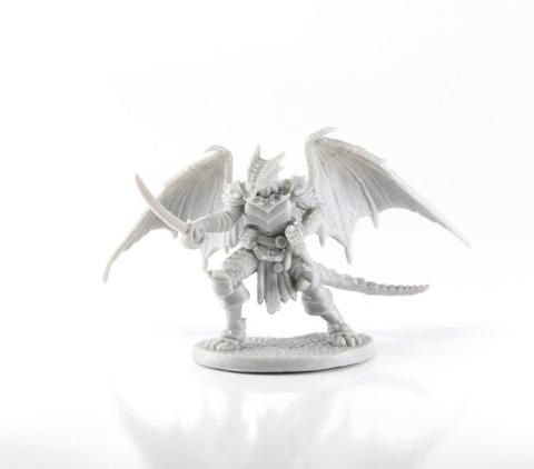 Reaper Miniature Bones Tazythas Dragonfolk Rogue (77656)