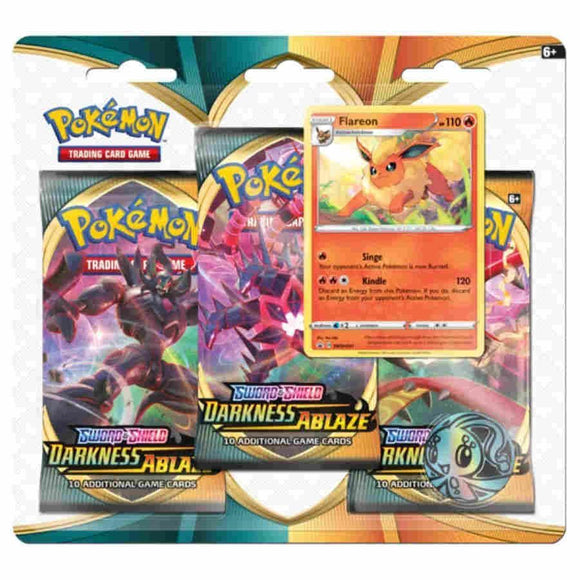 Pokemon TCG Sword & Shield Darkness Ablaze 3 Pack Blister