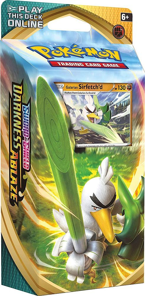 Pokemon TCG Sword & Shield Darkness Ablaze Theme Deck Galarian Sirfetch'd