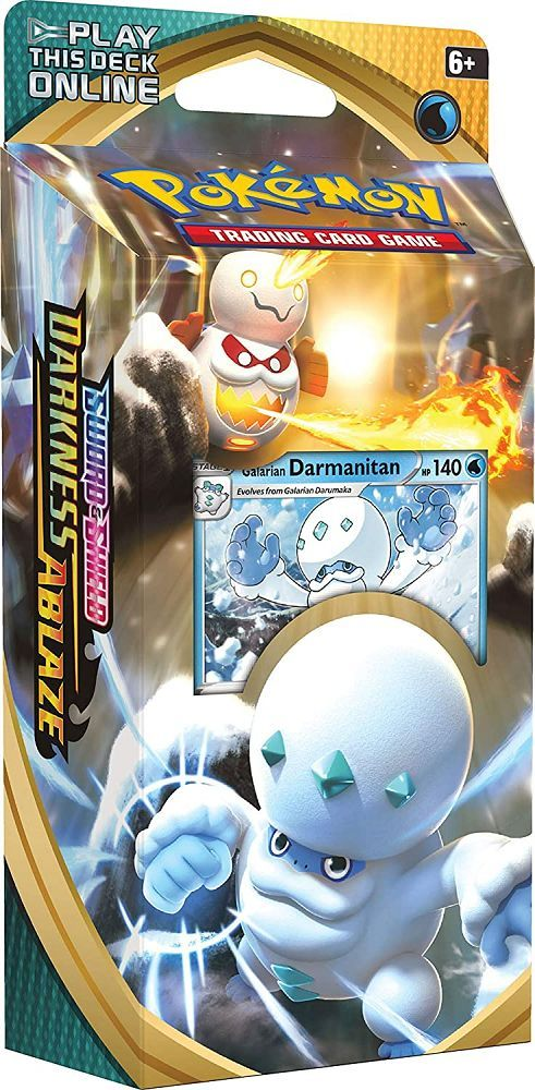 Pokemon TCG Sword & Shield Darkness Ablaze Theme Deck Galarian Darmanitan