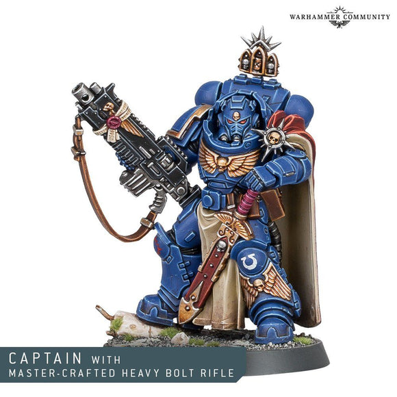 Warhammer 40,000 Space Marines Captain with Master Crafted Heavy Bolt Rifle
